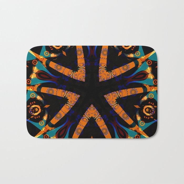 Tribal Geometric Bath Mat