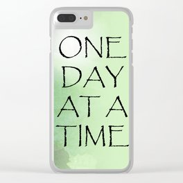 One Day at a Time Sweet Peas Clear iPhone Case