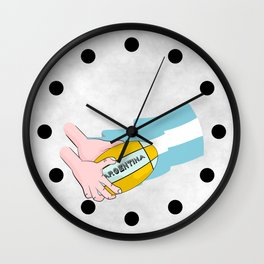 Argentina Rugby Wall Clock