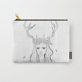 The Girl with Antlers Carry-All Pouch