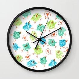 Scribble Birds Wall Clock