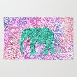 Elephant in Paisley Dream Rug