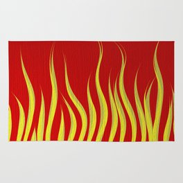 Hot Rod Red Flames Rug