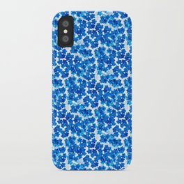 Forget-me-not Flowers White Background #decor #society6 #buyart iPhone Case