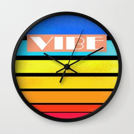 Sunset and Chll Wall Clock