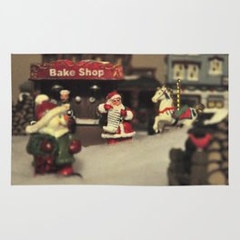 Santa Checking his List Rug