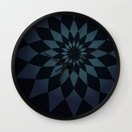 Wonderland Floor in Muted Rain Colors Wall Clock