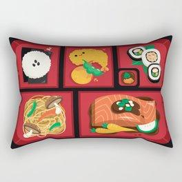 Sushi Bento Box Rectangular Pillow
