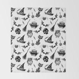 Halloween pattern design Throw Blanket