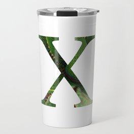"Initial letter ""X"" Travel Mug"