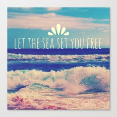 Let The Sea Set You Free Canvas Print