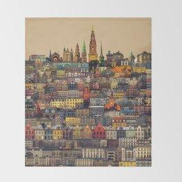 Copenhagen Facades Throw Blanket