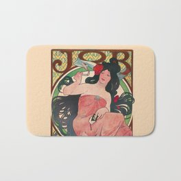Alphonse Mucha Job Rolling Papers Art Nouveau Woman Bath Mat