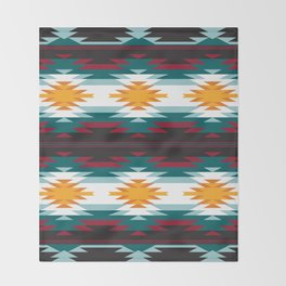 Native American Inspired Design Throw Blanket
