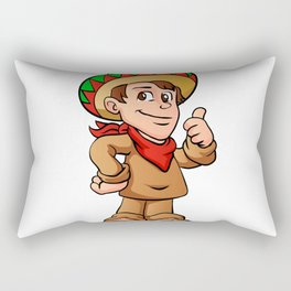 mexican kid cartoon Rectangular Pillow