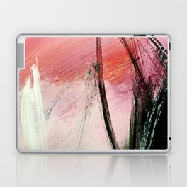 Train of thought: a vibrant abstract mixed media piece Laptop & iPad Skin