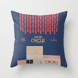 Mon Oncle - Jacques Tati Movie Poster, classic French movie, old film, Cinéma français, fun, humor Throw Pillow