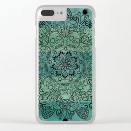 Skulls mandal Clear iPhone Case