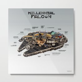 Millennial Falcon Metal Print