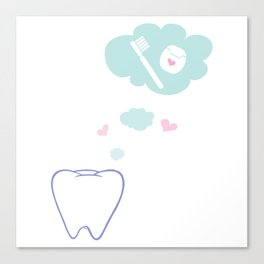 Tooth with Happy Thoughts Canvas Print