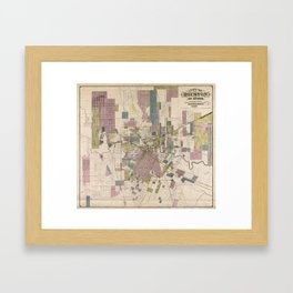 Houston Map Framed Art Prints Society - Vintage texas map framed