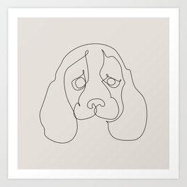 One Line Beagle Art Print