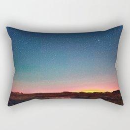 Bisti Badlands Hoodoos Under New Mexico Stary Night Rectangular Pillow