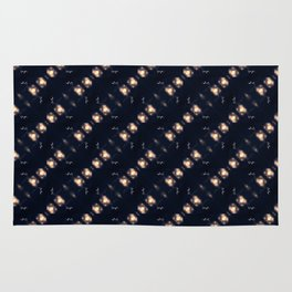Dancing stars pattern Rug