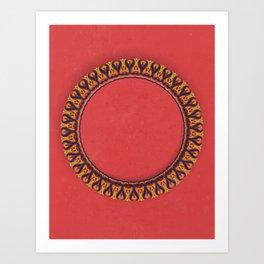Complex Lai Thai Wreath V1 Art Print