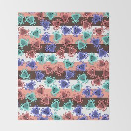 Ameba Blobs - Colorful Putty Throw Blanket