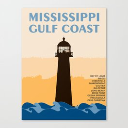 Mississippi's Gulf Coast. Canvas Print