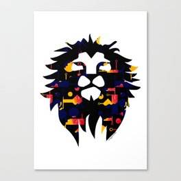 Abstract African Lion Canvas Print