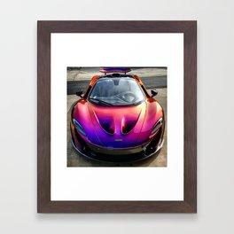 Blurple McLaren P1 Framed Art Print