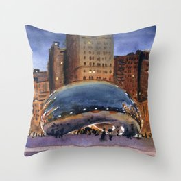 Cloud Gate Nocturne Throw Pillow
