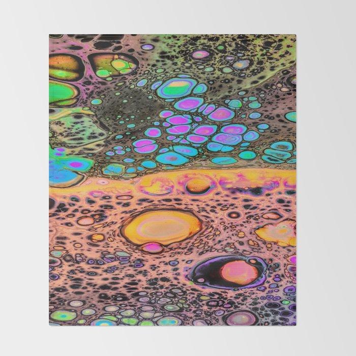 Neon Oil Spill Throw Blanket