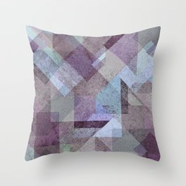 PLUM TURQUOISE ABSTRACT GEOMETRIC Throw Pillow