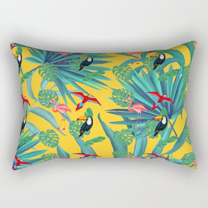 tropical yellow Rectangular Pillow