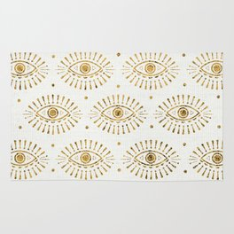 Evil Eyes Gold Rug