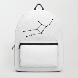 Virgo Star Sign Black & White Backpack