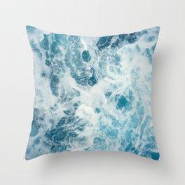 Rough Sea - Ocean Photography Throw Pillow