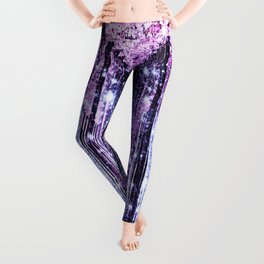 Magical Forest Path Lavender Pink Periwinkle Leggings