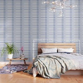 Big Stripes in Light Blue Wallpaper