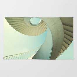 Spiral staircase in pastel tones Rug