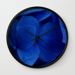 Pretty Indigo Hydrangea Flower  #decor #society6 #buyart Wall Clock