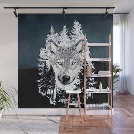 Forest Wolf Art Wall Mural
