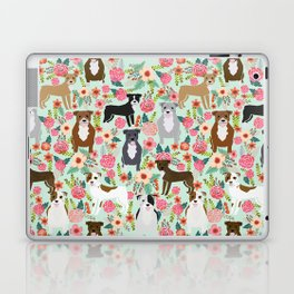 Pitbull florals mixed coats pibble gifts dog breed must have pitbulls florals Laptop & iPad Skin