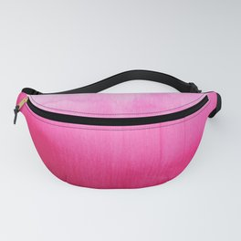 Modern fuchsia watercolor paint brushtrokes Fanny Pack