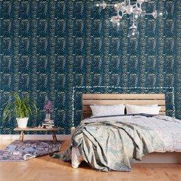 ANIMAL PRINT  BLUE BLACK AND GRAY Wallpaper