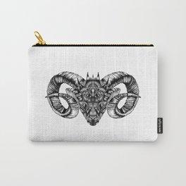 Zentangle Aries (Ram head) Carry-All Pouch
