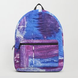 Royal purple abstract watercolor Backpack
